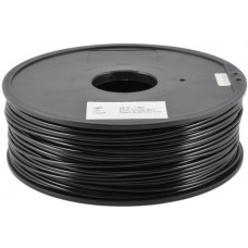 PLA BLACK ON REEL FOR 3D PRINTERS - 1 KG