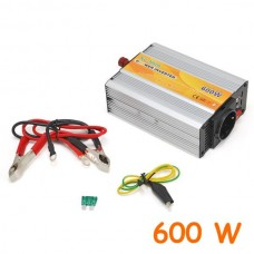 Modified Sine Wave DC-AC Power Inverter - 12 V - 600 W + USB