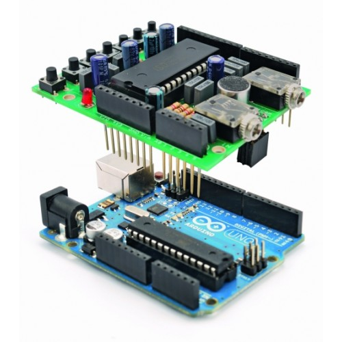 Voice Shield for Arduino- This Voice Shield is particularly