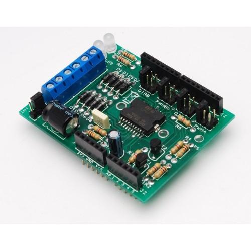 Motor shield for arduino based on the du