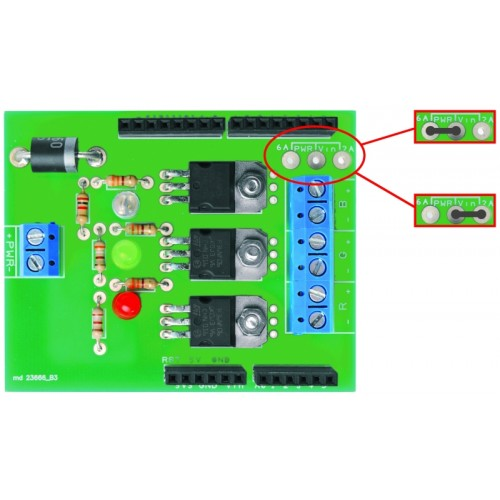 Rgb shield for arduino that allows to