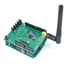 LoRa shield for Arduino - Mounted