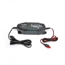Smart switching battery charger for lead and lithium batteries 6-12V - 3.8A