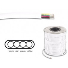 TELEPHONE CABLE 4 x 0.08mm WHITE FLAT - 100 m