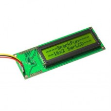 Serial Enabled 16x2 LCD - Black on Green 5 V