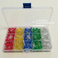 Set 500 pieces LED 5 mm various colors