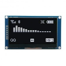 128x64 OLED display - white characters