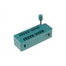 ZIF socket for PDIP 10+10