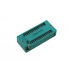 ZIF socket for PDIP 14+14