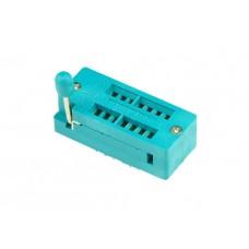 ZIF socket for PDIP 7+7