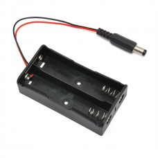Battery holder with DC connector