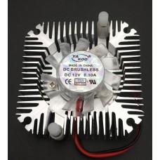 Aluminum heat sink with 12 volt fan