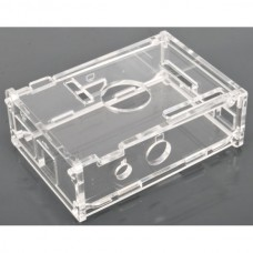 Trasparent acrylic case suitable and drilled for Raspberry Pi.