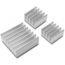 3 heat sinks for Raspberry Pi