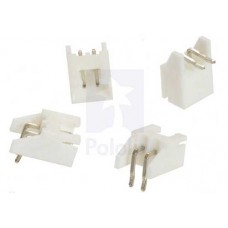 JST male connector 2 pin 90° - 4 Pcs