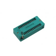 ZIF socket for PDIP 14+14