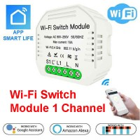Wi-Fi Switch Module 1 Channel - Amazon Alexa and Google Assistant