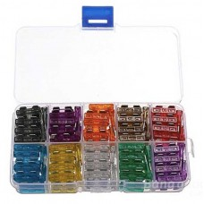 100 Pcs Assorted Car Medium Blade Fuse