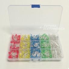Set 1000 pieces LED 3 mm various colors