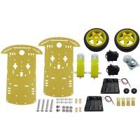 Base Robot Chassis + Wheels + Motors + Battery Holder
