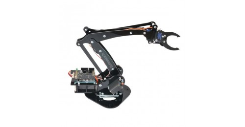 4 dof plexiglass robotic arm