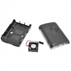 Premium Black Case ABS for Raspberry Pi with External Fan