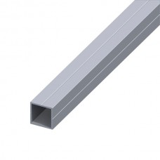 Square aluminium tube 23,5 mm - 1 meter
