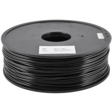 PLA BLACK ON REEL FOR 3D PRINTERS - 1 KG- 1-75 mm
