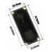 Rectangular Speaker - 3W / 4 ohm -70 x 30mm