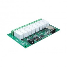 Board 8x16A ethernet relay